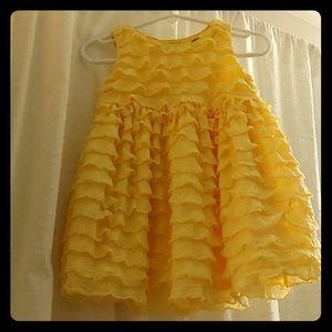 Baby Gap fluttery yellow dress